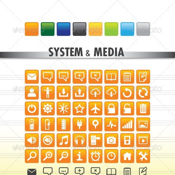 System & Media Icons