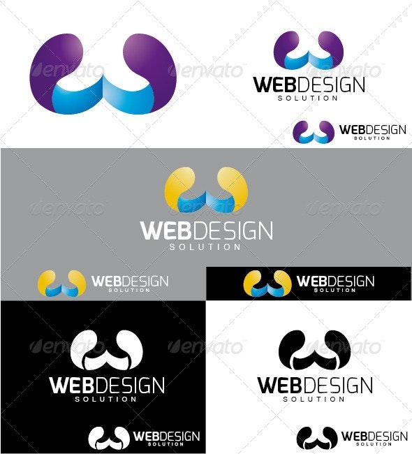 Webdesign Solution Logo - Letters Logo Templates