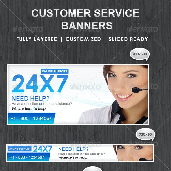 Customer Support Banner