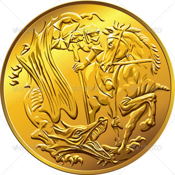 British Money Gold Coin Sovereign with St. George