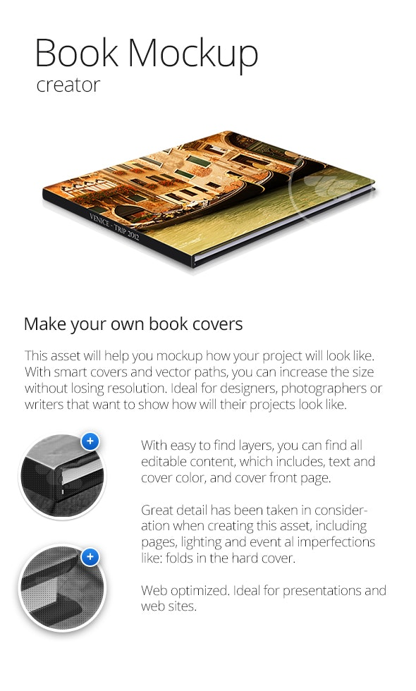 Vector Book Mockup Creator - Books Print