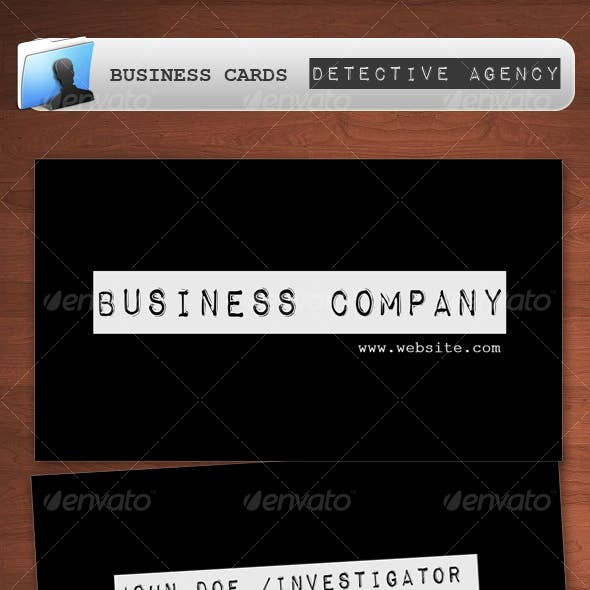 Detective Investigation Agency Business Card