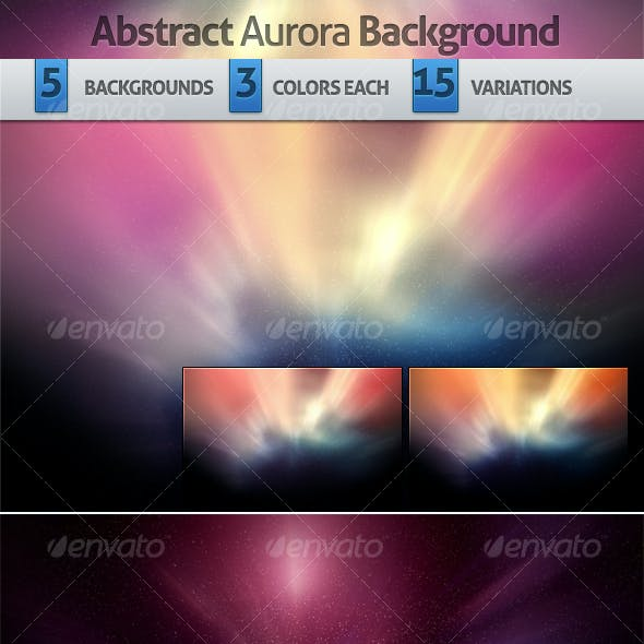 Abstract Aurora Backgrounds