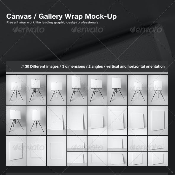 Canvas Gallery Wrap Mock-Up