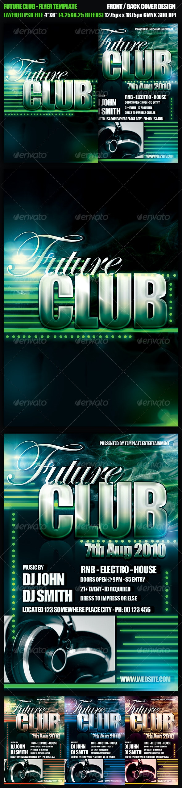Future Flyer Template - Clubs & Parties Events