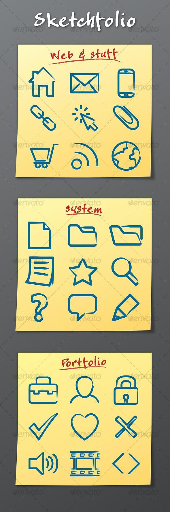 Sketchfolio Icons - Web Icons