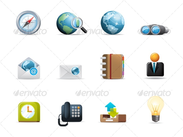 Qicon series   Web and Communication icons 2 - Web Icons