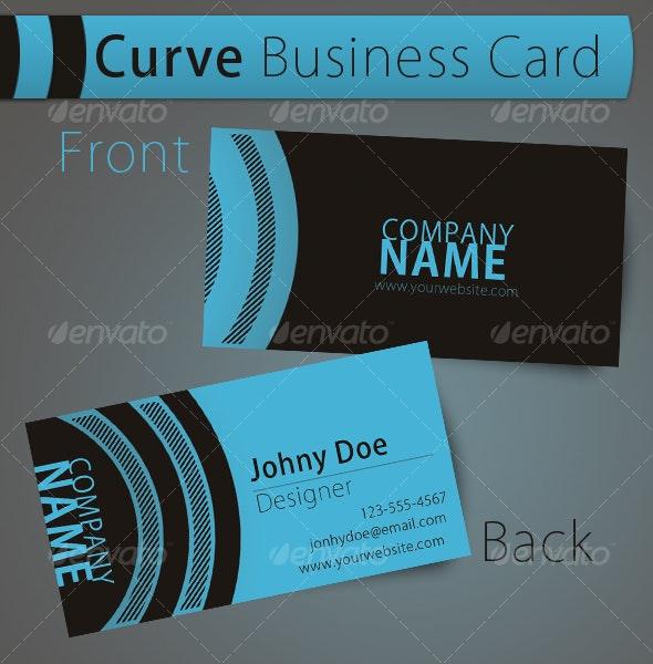 Curve - Business Card - Creative Business Cards