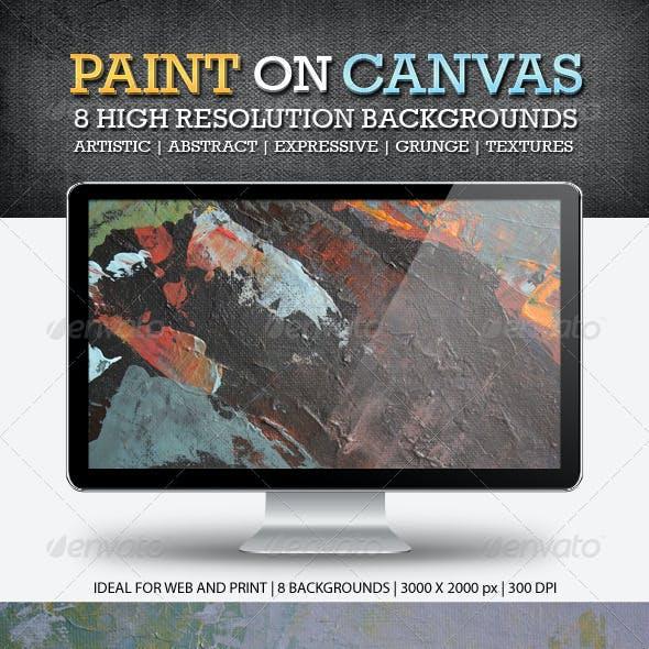 Paint on Canvas Backgrounds