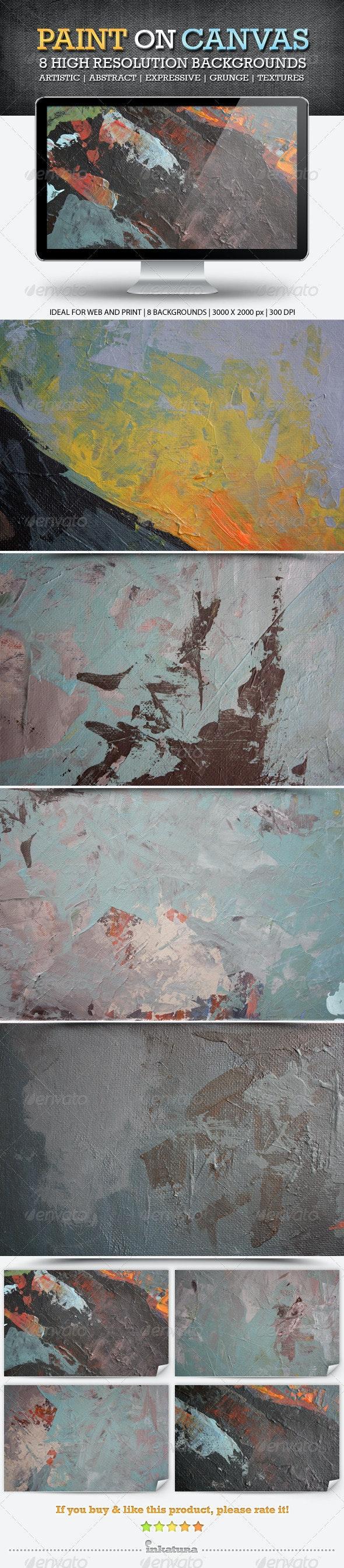 Paint on Canvas Backgrounds - Backgrounds Graphics