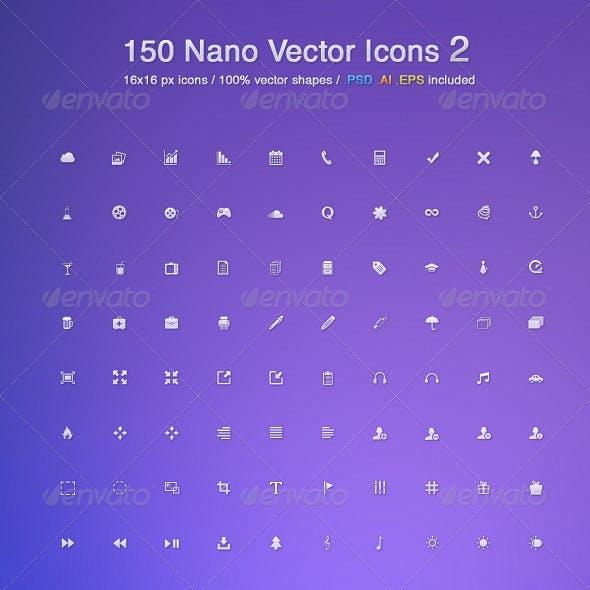 150 Nano Vector Icons 2