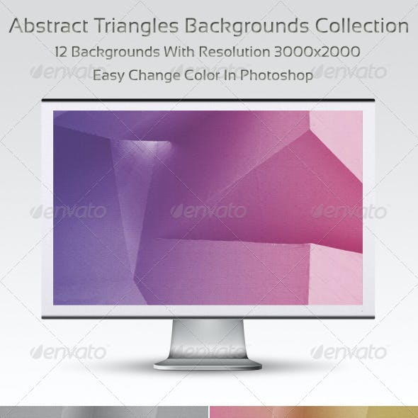 Abstract Triangles Backgrounds Collection