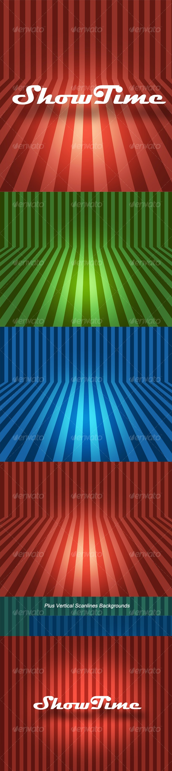 Bent Scanlines Backgrounds - Abstract Backgrounds