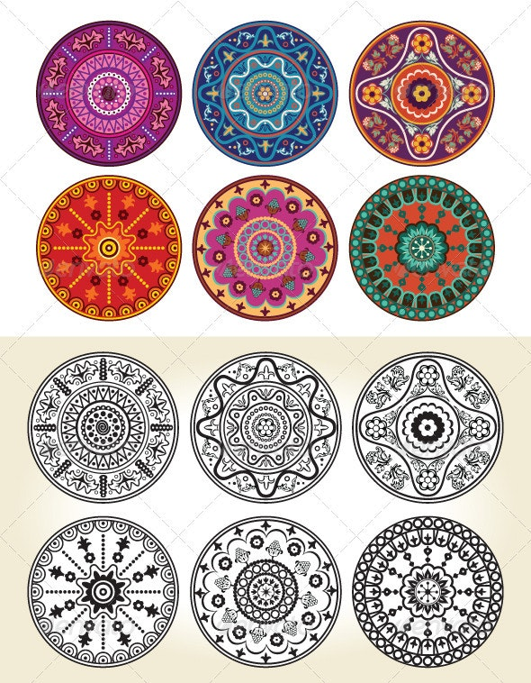 Indian Style Floral Ornament  - Patterns Decorative