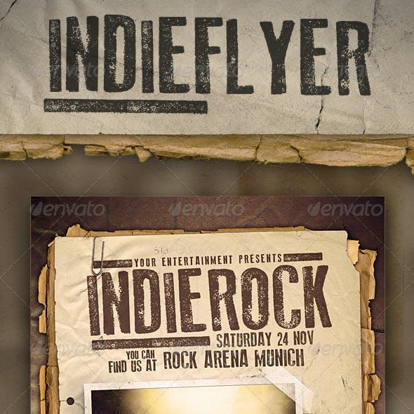 Indie Rock Festival Flyer