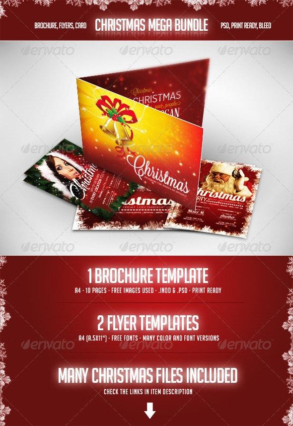 Christmas - Mega Bundle - Flyers Print Templates