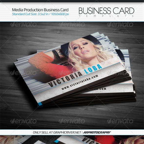 Media Production Business Card