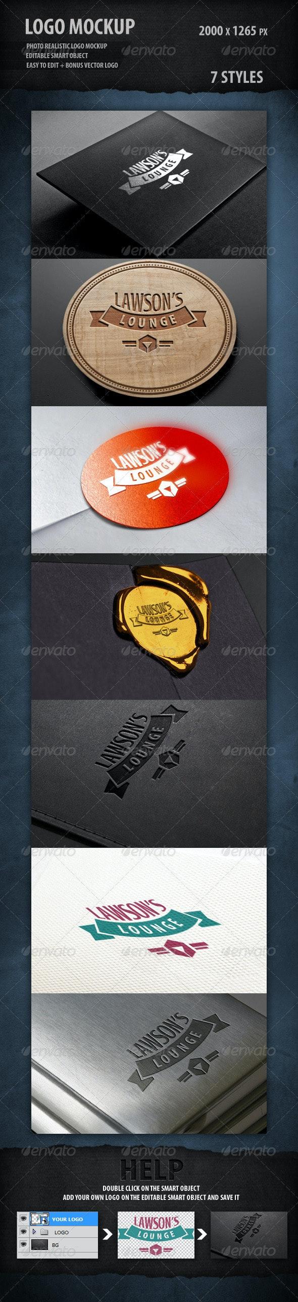 Logo Mockup - Logo Product Mock-Ups