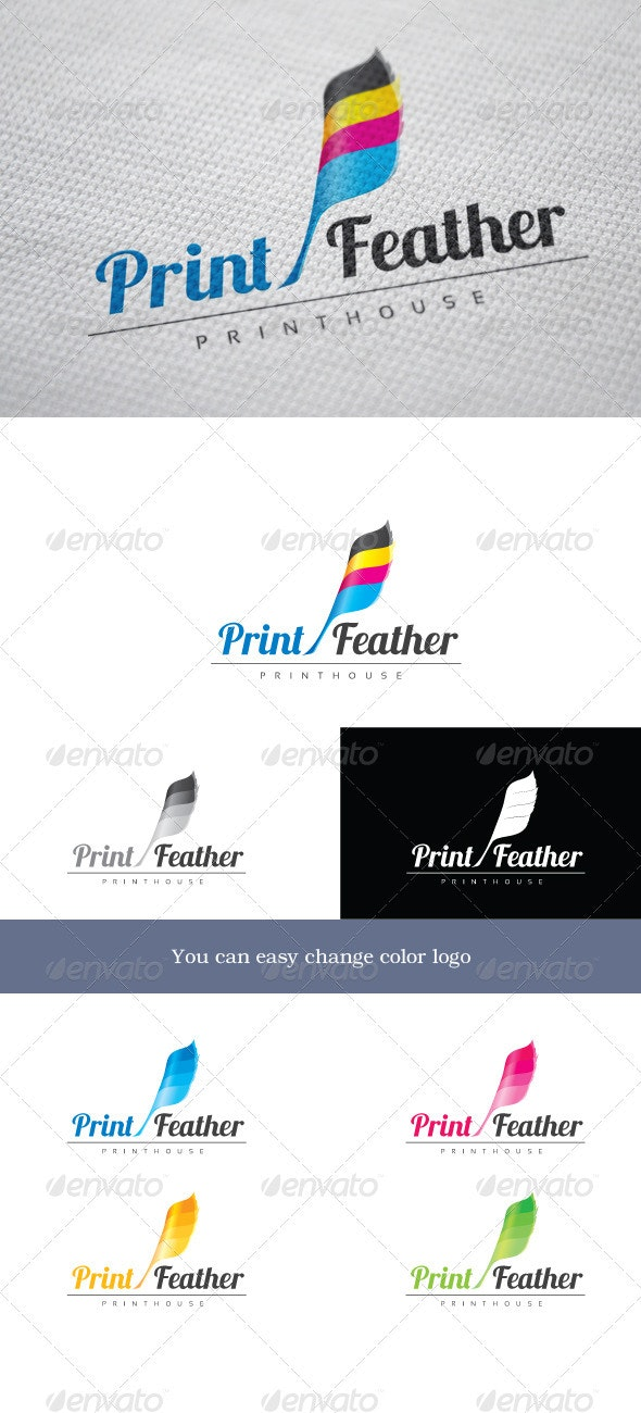 PrintFeather - Objects Logo Templates