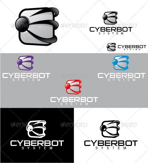 Cyberbot System Logo - Objects Logo Templates