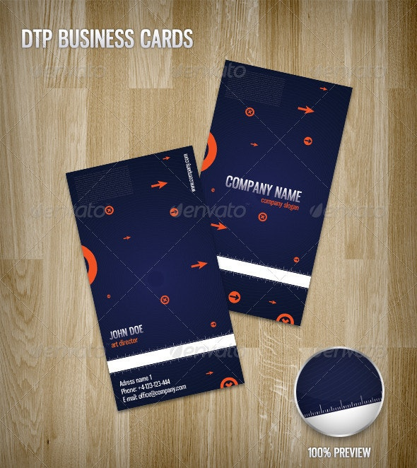 DTP Business Cards - Corporate Business Cards