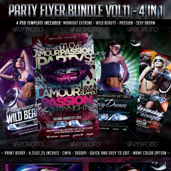 Party Flyer Bundle Vol11 - 4 in 1