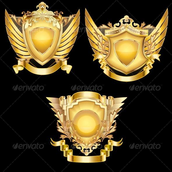 Elegant Heraldic Shields - Man-made Objects Objects