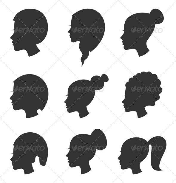 Hairstyle the girl - People Characters