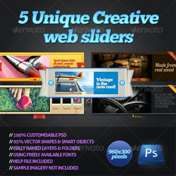 Creative Sliders & Feature Templates from GraphicRiver