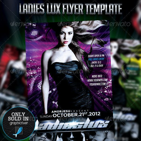 Ladies Lux Flyer Template