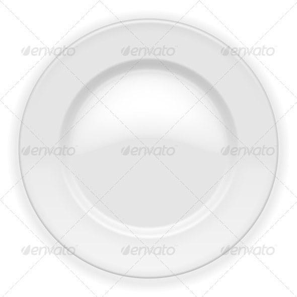 Vector Plate - Food Objects