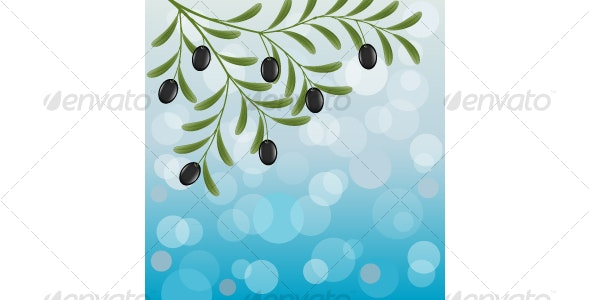 Floral background with an olive branch  - Backgrounds Decorative