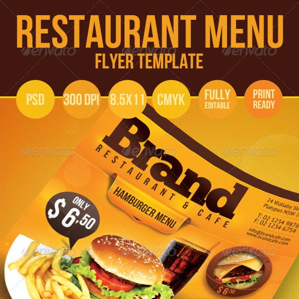 Restaurant Menu Flyer