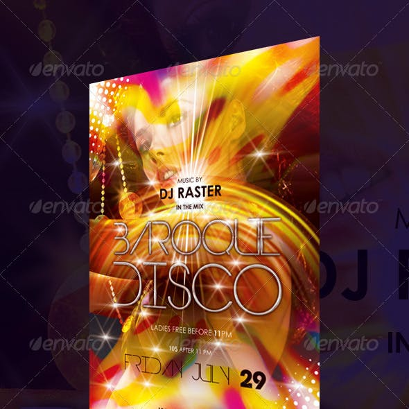 Disco Party Vibrant Flyer Template