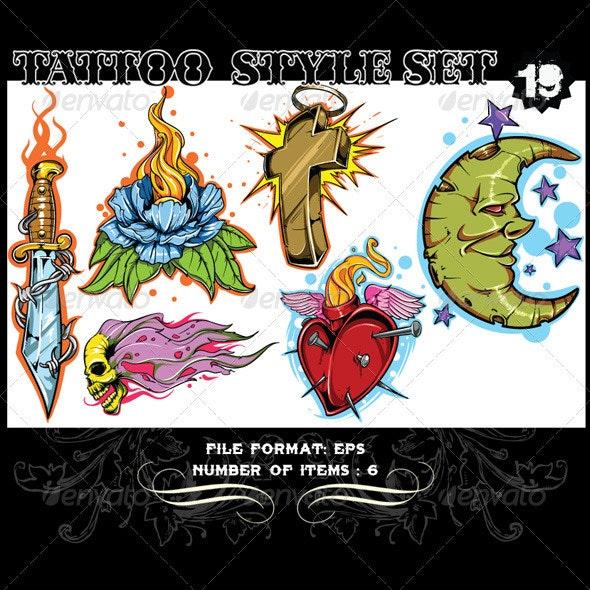 Tattoo Style Vector Set 19 - Tattoos Vectors