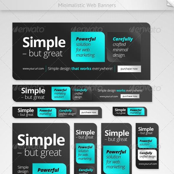 Minimalistic Web Banners