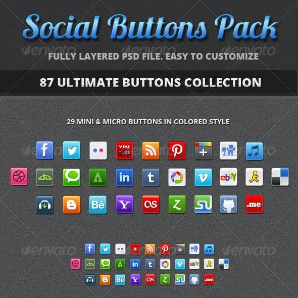 87+ Social Buttons