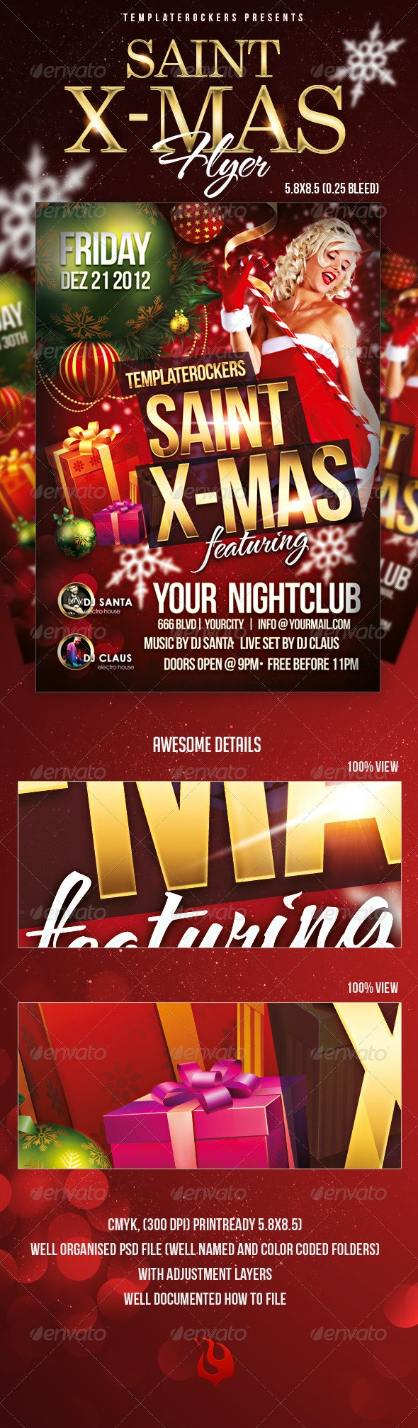Saint X-Mas Flyer - Clubs & Parties Events