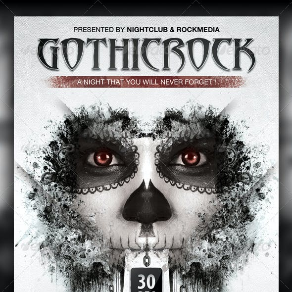 Gothic Rock Concert / Party Flyer