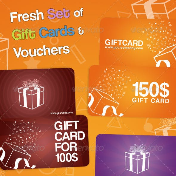 Fresh Set of Gift Cards and Vouchers