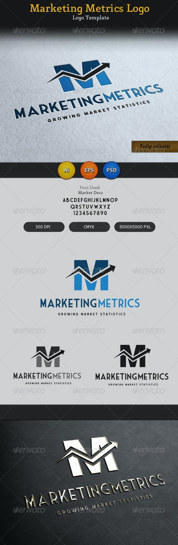 Marketing Metrics Logo 2 - Vector Abstract