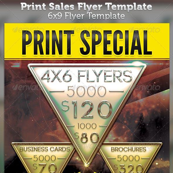 Printer 6x9 Sales Flyer Template