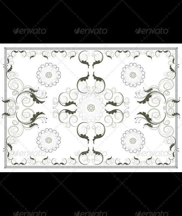 Vintage Pattern Carpet - Borders Decorative