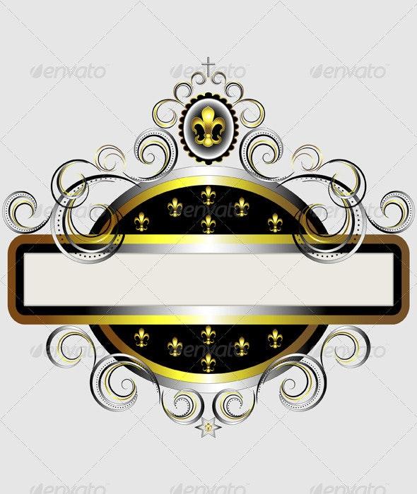 Golden Frame with Fleur de Lis - Borders Decorative