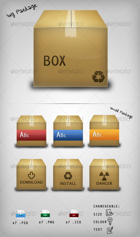 Package Icon Set - Web Icons
