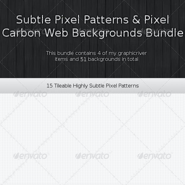 51 Subtle Patterns & Web Backgrounds Bundle