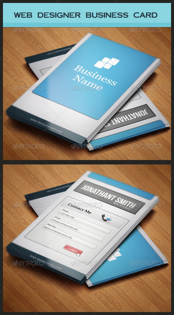 Web Designer Business Card - Industry Specific Business Cards
