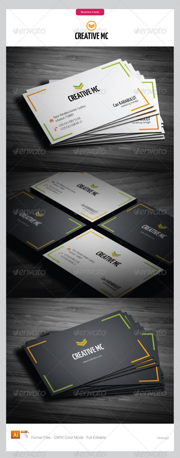 corporate business cards 149 - Business Cards Print Templates