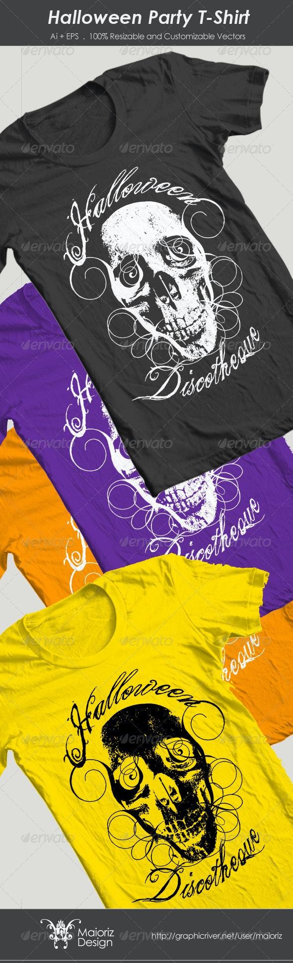Halloween Party T-Shirt - Grunge Designs