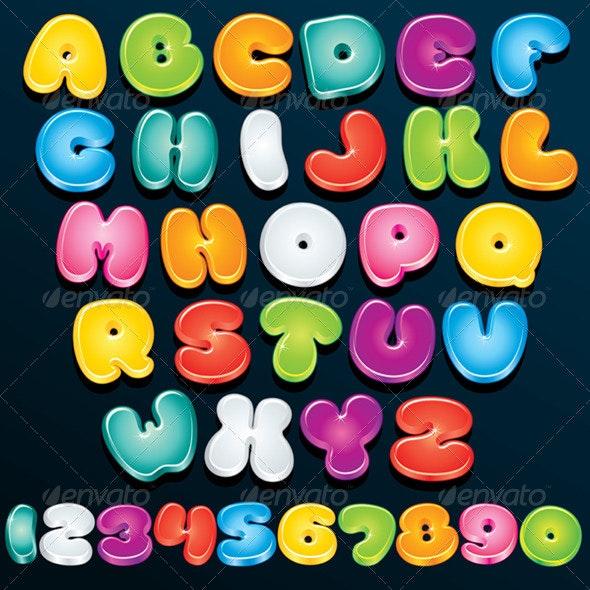 3D Cartoon Letters - Decorative Symbols Decorative